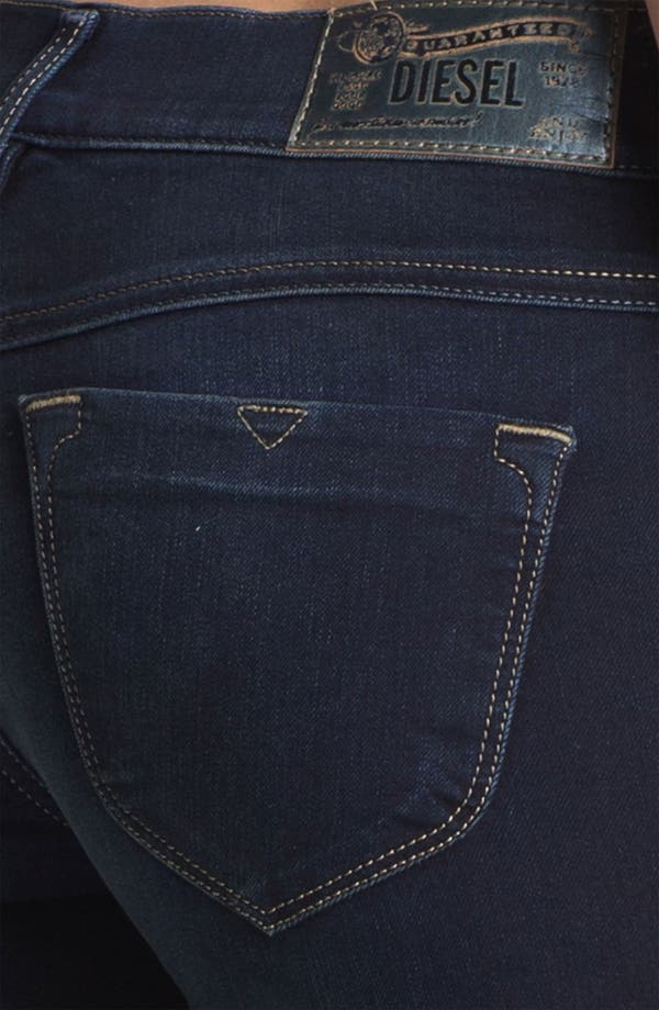 Alternate Image 3  - DIESEL® 'Livier' Stretch Denim Skinny Jeans (Blue)