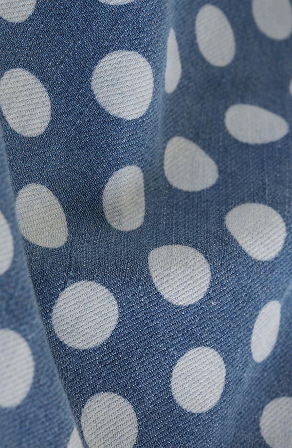 Alternate Image 3  - Topshop Moto Polka Dot Denim Skater Skirt