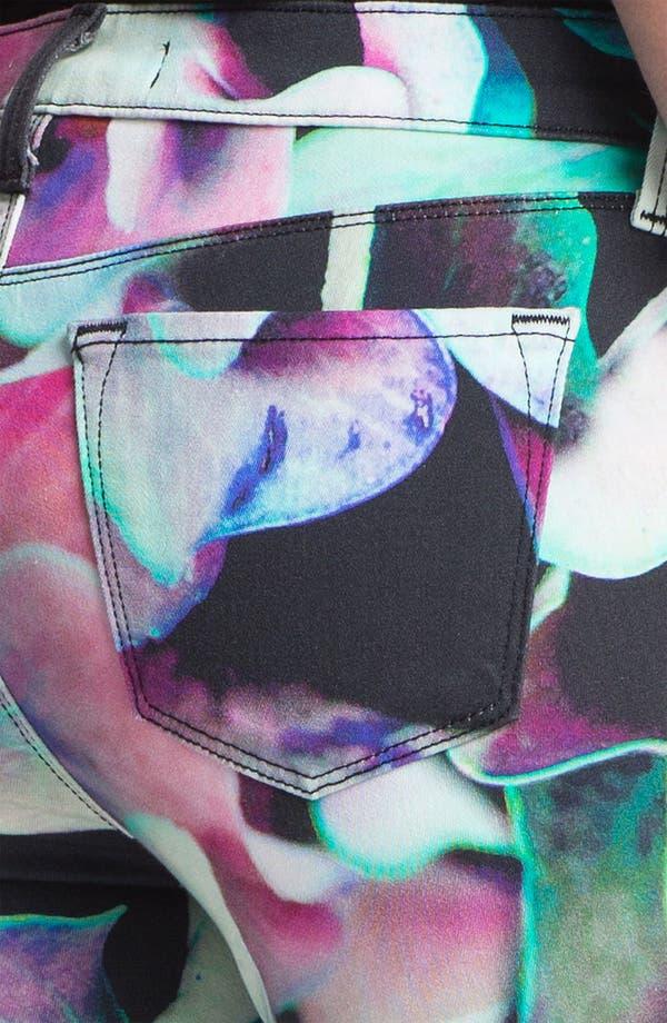 Alternate Image 3  - J Brand Print Super Skinny Jeans (Hydrangea)