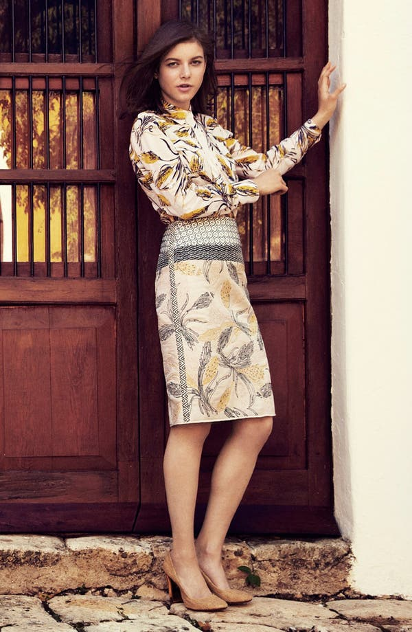 Alternate Image 1 Selected - Tory Burch Military Shirt & Skirt
