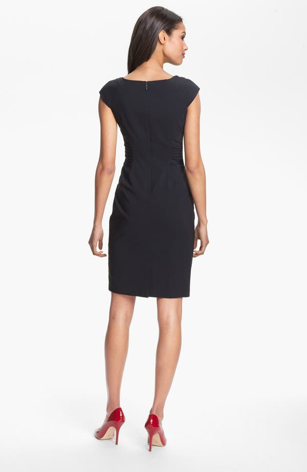 Alternate Image 2  - Adrianna Papell Embellished Ruched Sheath Dress (Petite)