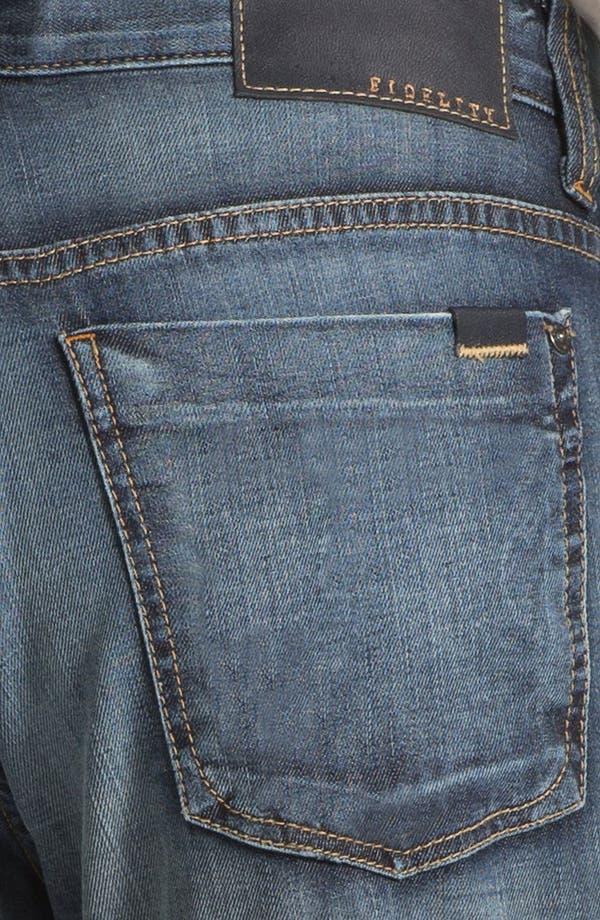 Alternate Image 4  - Fidelity Denim '5011' Straight Leg Jeans (Iona Vintage)