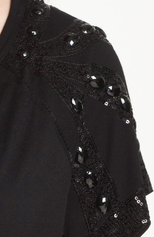 Alternate Image 3  - Kische Sheer Back Embellished Top (Plus) (Online Only)