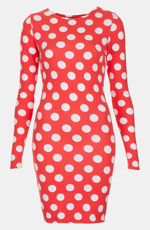 Alternate Image 1 Selected - Topshop Polka Dot Body-Con Dress