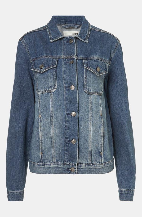 Main Image - Topshop 'Sylvie' Oversized Denim Jacket