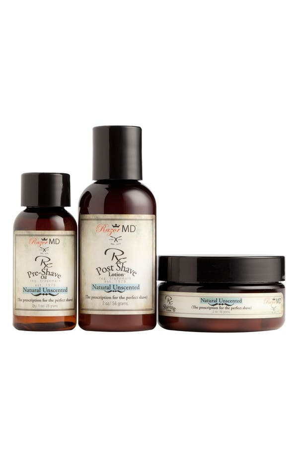 Main Image - Razor MD® 'Natural Unscented' Travel Kit