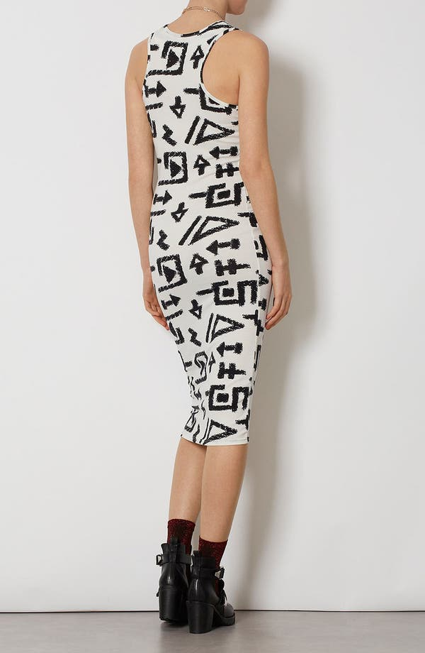 Alternate Image 3  - Topshop 'Egypt Graffiti' Print Midi Tank Dress