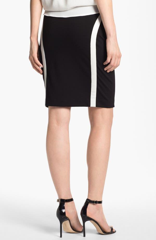 Alternate Image 2  - DKNYC Leather Trim Skirt
