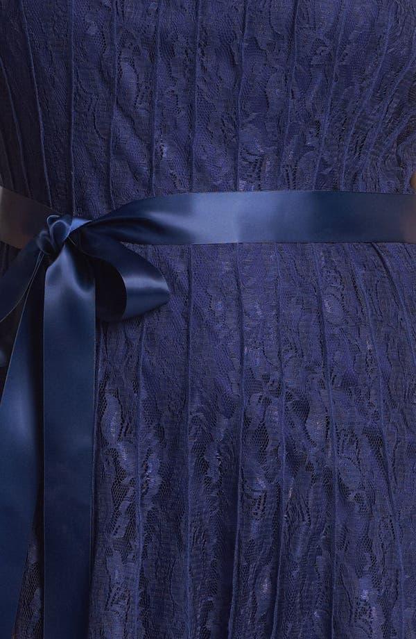 Alternate Image 3  - Xscape Pleated Lace Fit & Flare Dress (Plus Size)