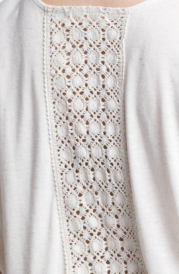 Alternate Image 3  - Painted Threads Crochet Back Jersey Tee (Juniors Plus)