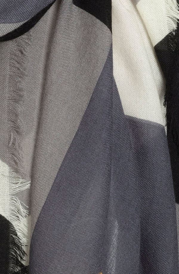 Alternate Image 2  - Nordstrom Colorblock Print Wool Scarf