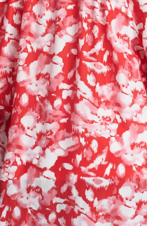 Alternate Image 3  - Sejour Floral Print Smocked Top (Plus Size)