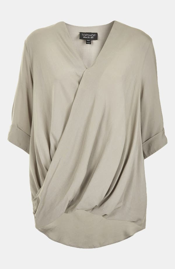 Alternate Image 3  - Topshop Draped Surplice Top