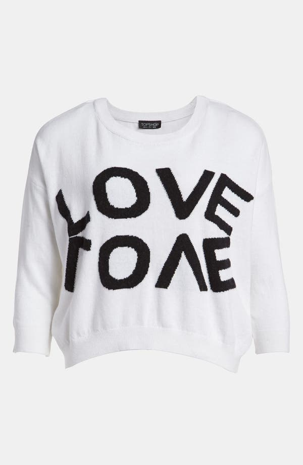 Alternate Image 1 Selected - Topshop 'Love' Sweater