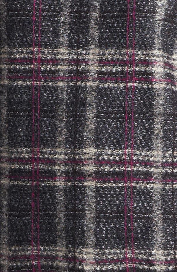 Alternate Image 5  - St. John Collection Leather Accent Plaid Sweater