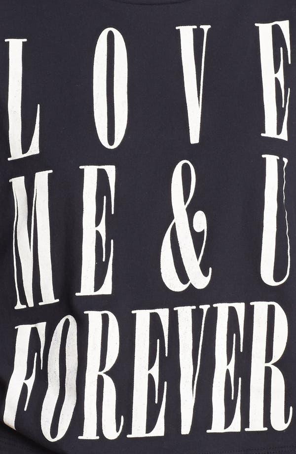 Alternate Image 3  - Lush 'Love Forever' Graphic Crop Tee (Juniors)