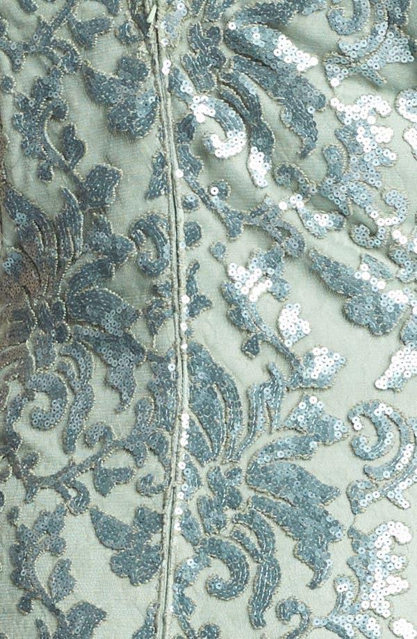 Alternate Image 3  - Tadashi Shoji Sequin Overlay Sheath Dress (Plus Size)
