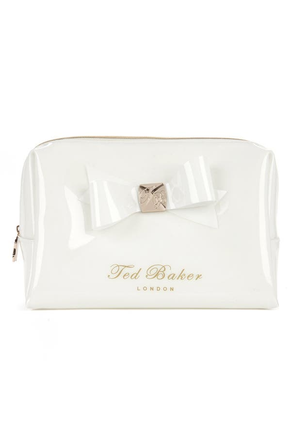 Alternate Image 1 Selected - Ted Baker London 'Large Bow' Cosmetics Bag