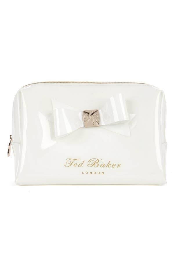 Main Image - Ted Baker London 'Large Bow' Cosmetics Bag
