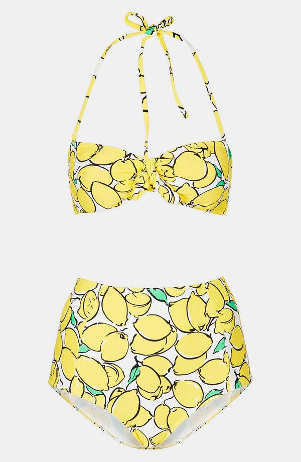 Alternate Image 1 Selected - Topshop 'Sicily Lemon' Bandeau Bikini