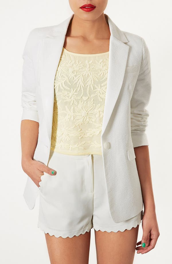 Alternate Image 1 Selected - Topshop Textured Blazer