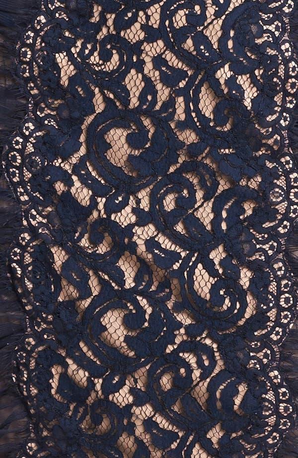 Alternate Image 3  - Tadashi Shoji Side Ruched Lace Sheath Dress