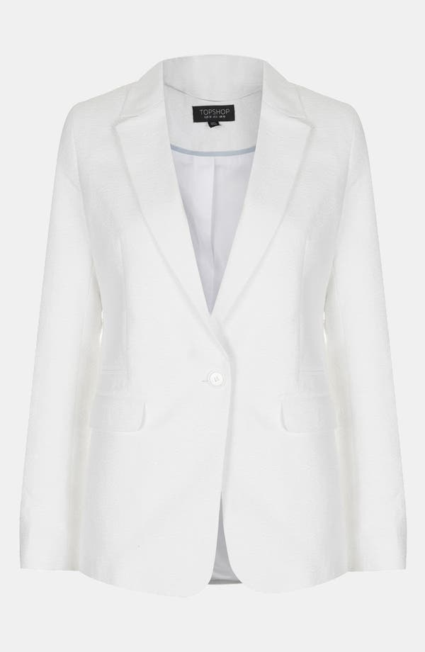Alternate Image 3  - Topshop Textured Blazer