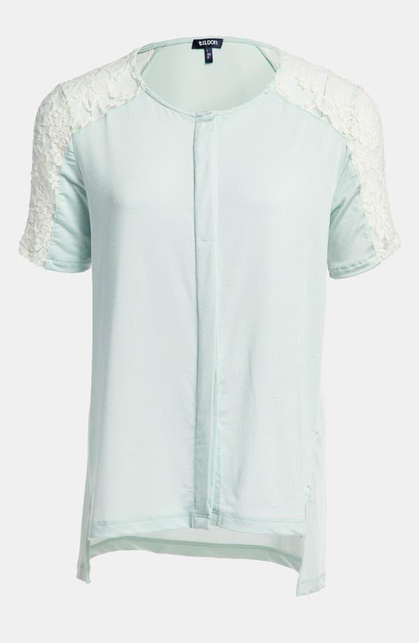 Alternate Image 1 Selected - Tildon Lace Shoulder Blouse