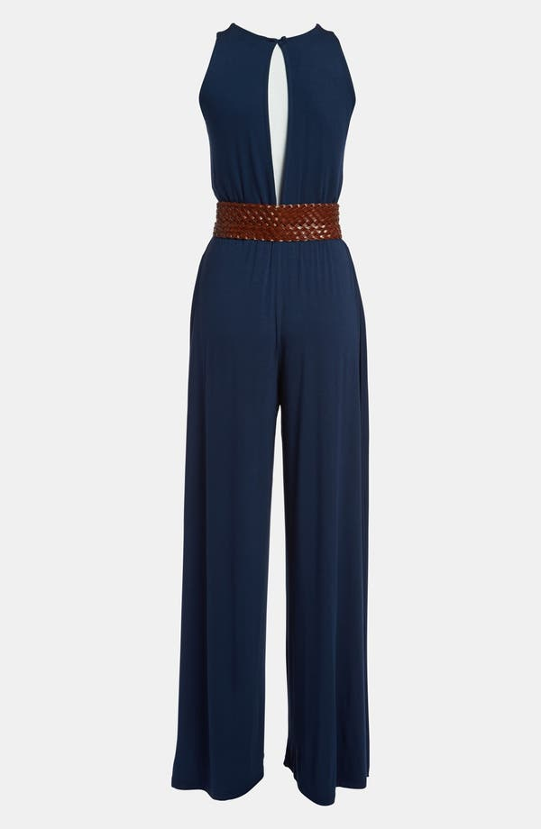 Alternate Image 3  - BB Dakota Slit Back Jersey Jumpsuit