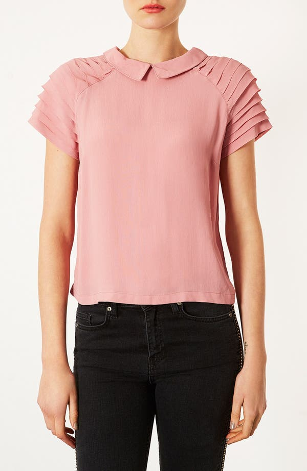 Main Image - Topshop Pleated Sleeve Blouse