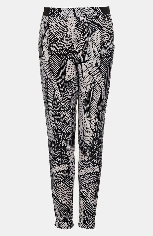 Alternate Image 3  - Topshop 'Scribble' Tapered Trousers