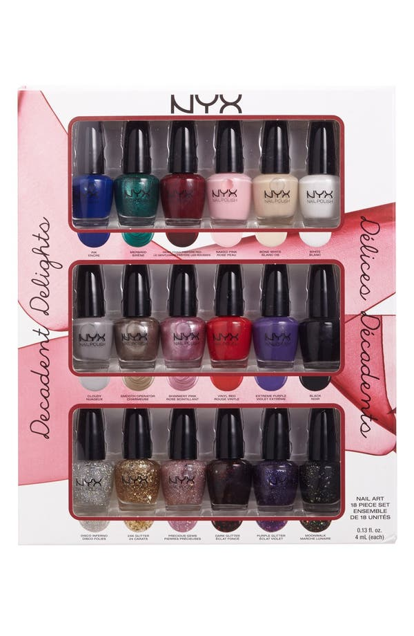 Alternate Image 1 Selected - NYX 'Decadent Delights' Nail Art Collection