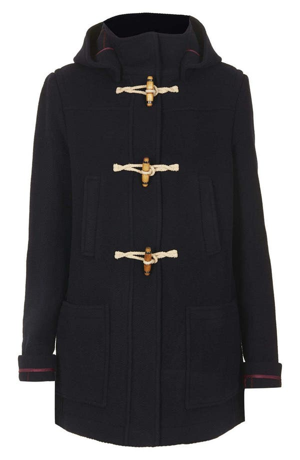 Alternate Image 3  - Topshop Hooded Toggle Duffle Coat