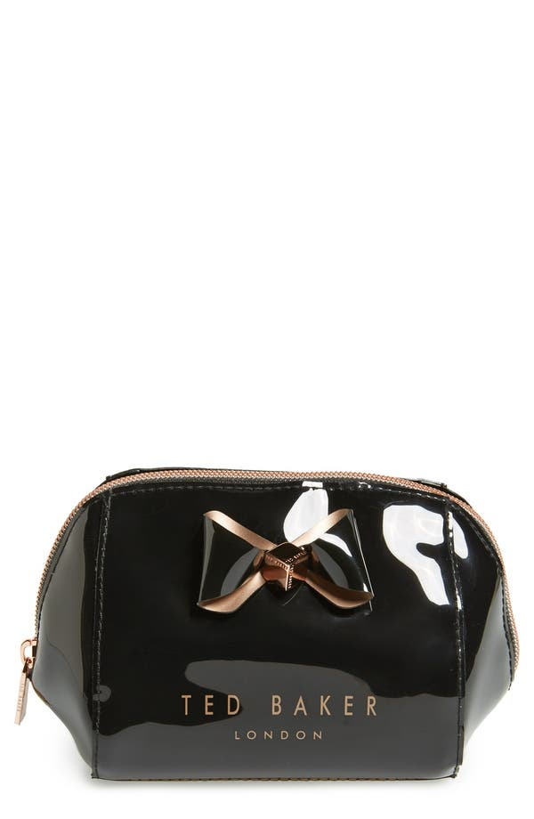 Main Image - Ted Baker London 'Bow Trapeze - Small Washbag' Cosmetics Case