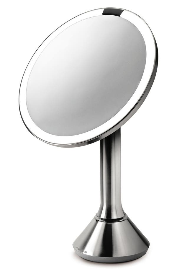 Alternate Image 1 Selected - simplehuman Countertop Sensor Makeup Mirror (8 Inch)