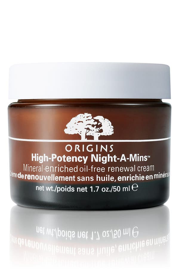 Main Image - Origins High-Potency Night-A-Mins™ Mineral-Enriched Oil-Free Renewal Cream