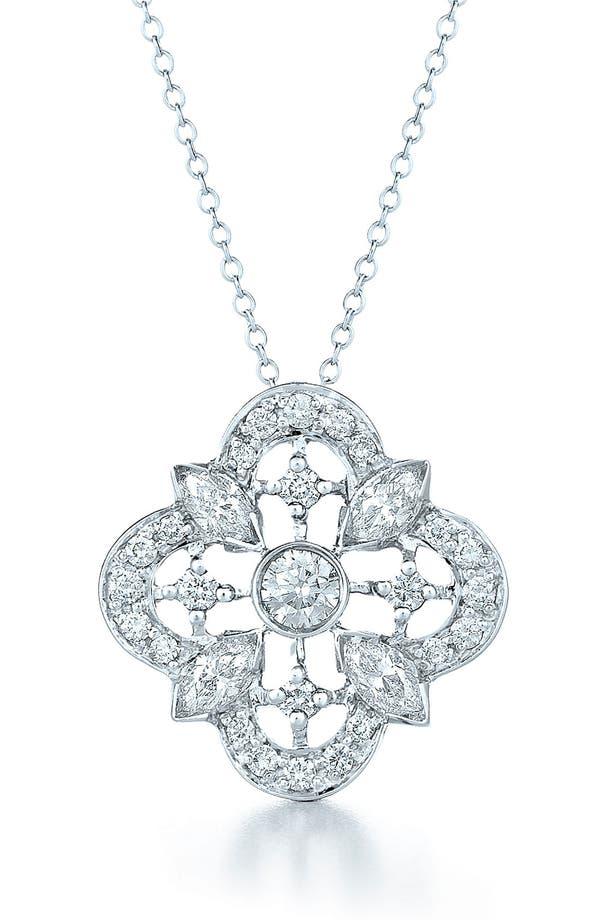 Alternate Image 1 Selected - Kwiat 'Clover' Diamond & White Gold Pendant Necklace