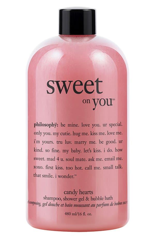 Main Image - philosophy 'sweet on you' candy hearts shampoo, shower gel & bubble bath