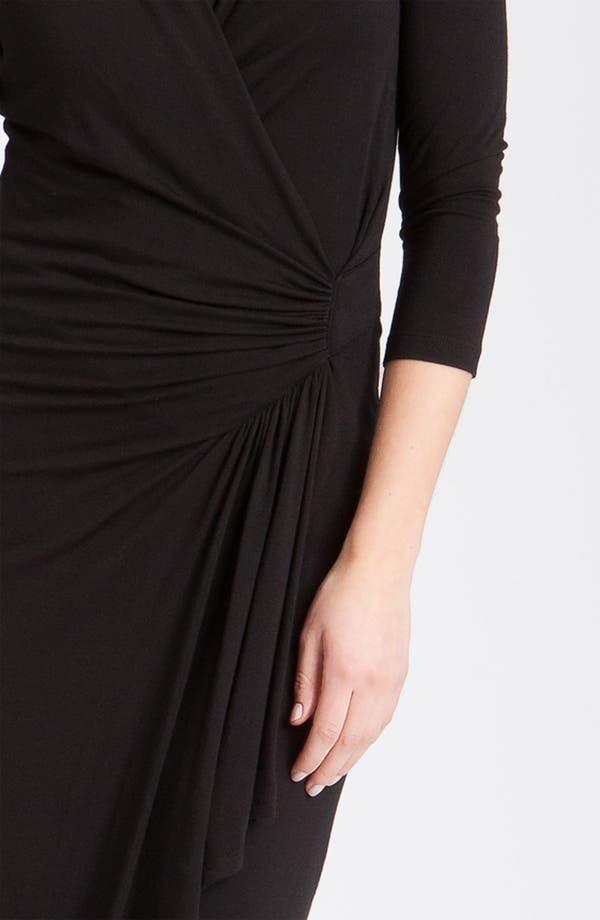 Alternate Image 5  - Karen Kane Cascade Faux Wrap Dress (Regular & Petite)