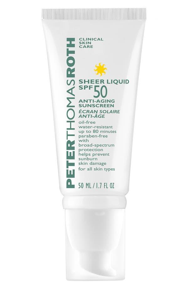Alternate Image 1 Selected - Peter Thomas Roth 'Sheer Liquid' Anti-Aging Sunscreen SPF 50