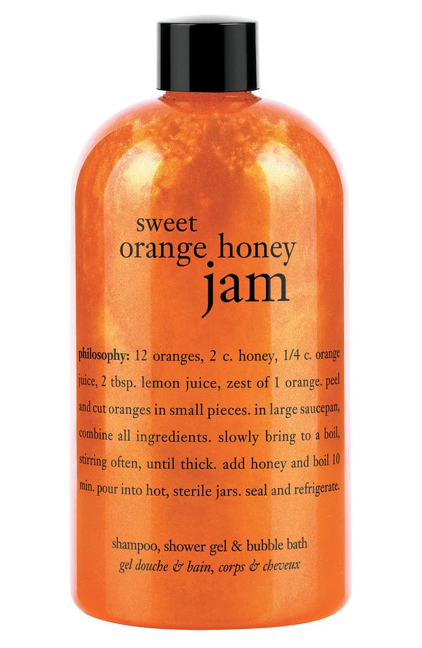 Main Image - philosophy 'sweet orange honey jam' shampoo, shower gel & bubble bath (Nordstrom Exclusive)