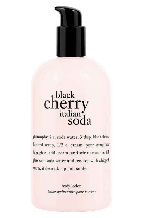 Main Image - philosophy 'black cherry italian soda' body lotion