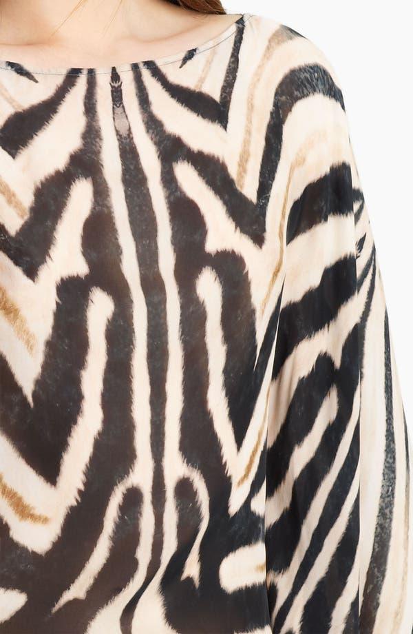 Alternate Image 3  - Roberto Cavalli Zebra Print Chiffon Caftan