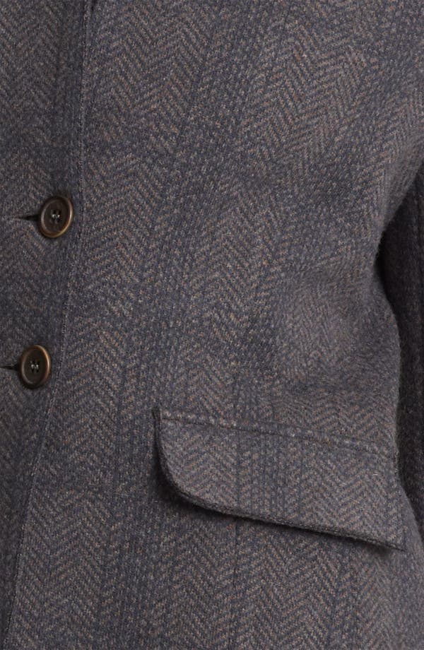 Alternate Image 3  - Fabiana Filippi Suede Collar Plaid Jacket