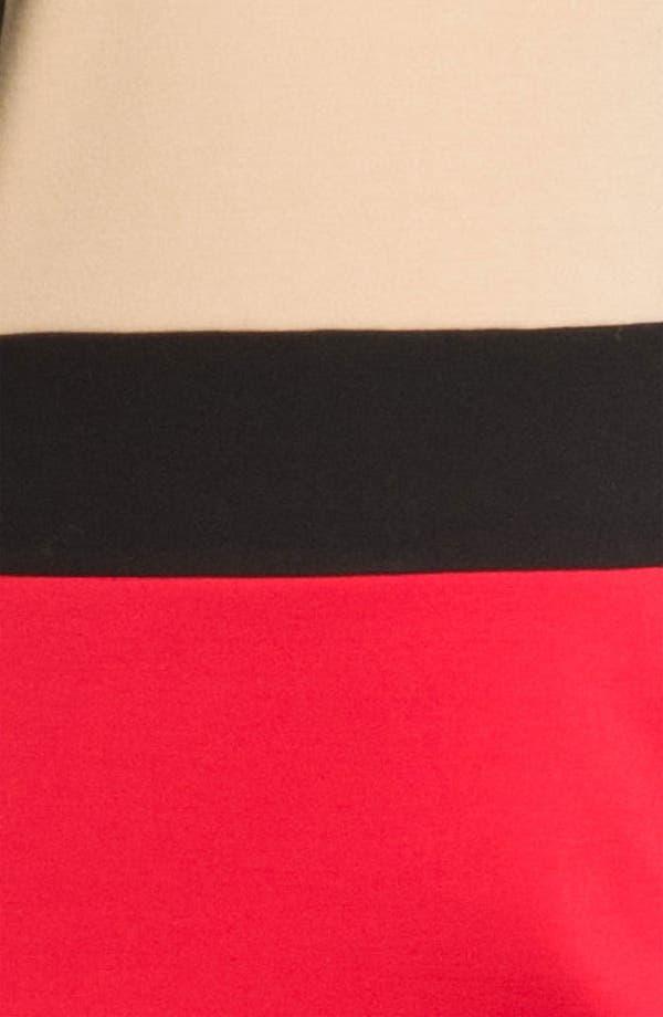 Alternate Image 3  - Calvin Klein Colorblock Ponte Knit Sheath Dress (Plus)
