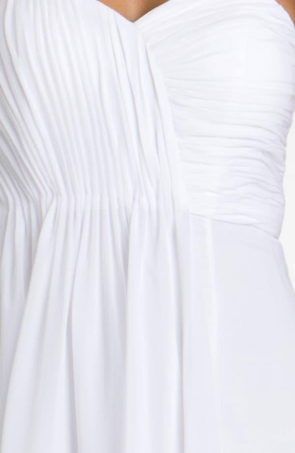 Alternate Image 3  - Dalia MacPhee Strapless Ruffle Front Chiffon Gown