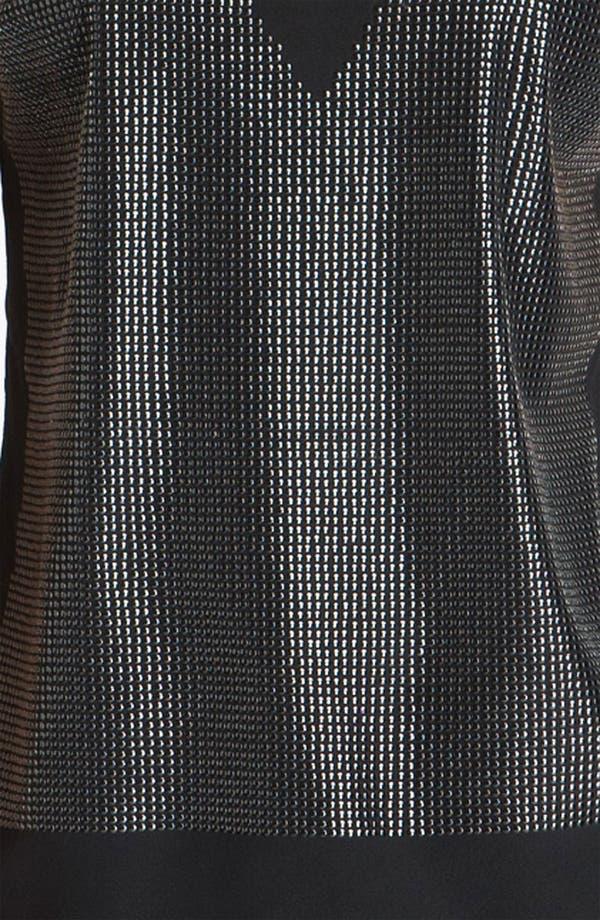 Alternate Image 3  - St. John Collection Sequin Front V-Neck Top