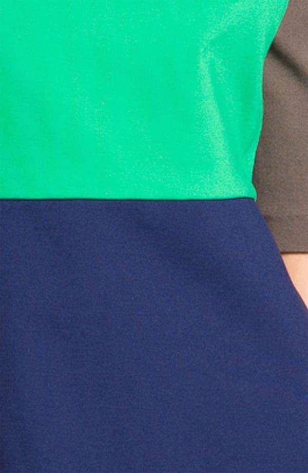 Alternate Image 3  - Suzi Chin for Maggy Boutique Colorblock Ponte Dress