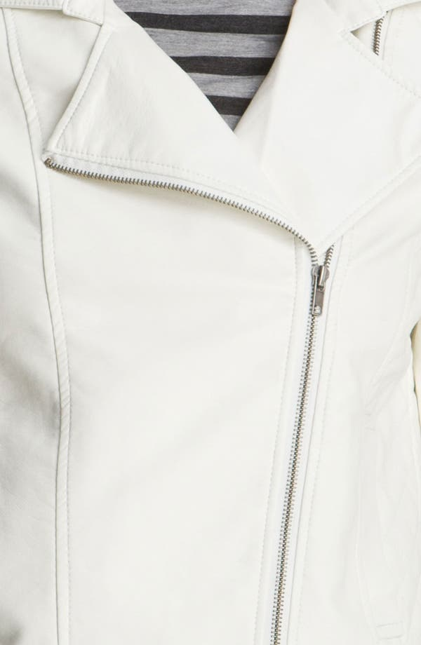 Alternate Image 3  - KUT from the Kloth Asymmetrical Zip Faux Leather Jacket