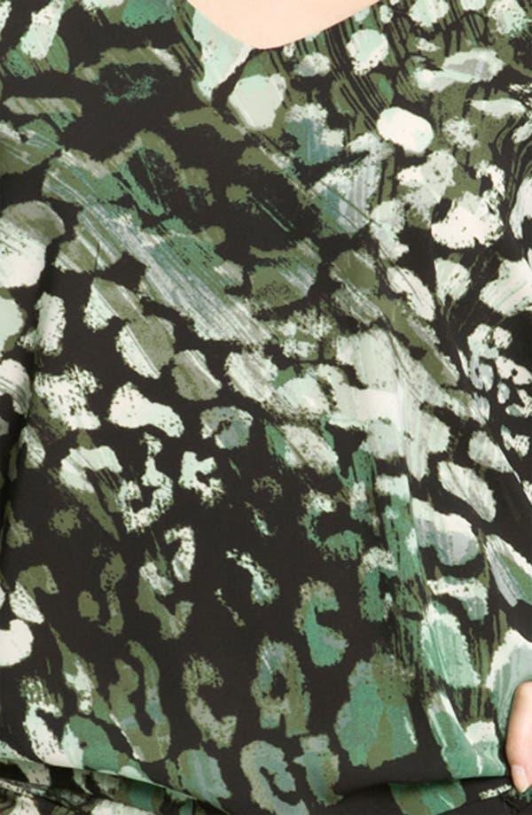 Alternate Image 3  - Donna Ricco Animal Print Dolman Sleeve Blouson Dress